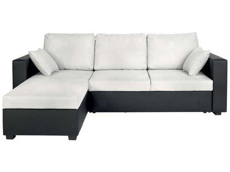 canap 233 d angle convertible et r 233 versible 5 places glenn coloris gris noir en pu tissu vente de