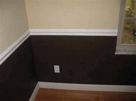 bloombety chair rail installation with wall color brown