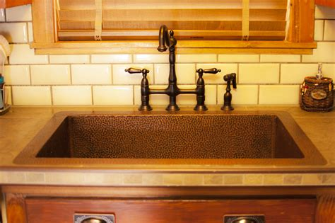 Alluring Copper Kitchen Sinks Combine With So