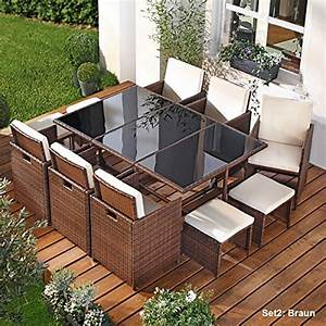 Rattan Sitzgruppe Garten : braun rattan sets und weitere gartenm bel g nstig online kaufen bei m bel garten ~ Markanthonyermac.com Haus und Dekorationen