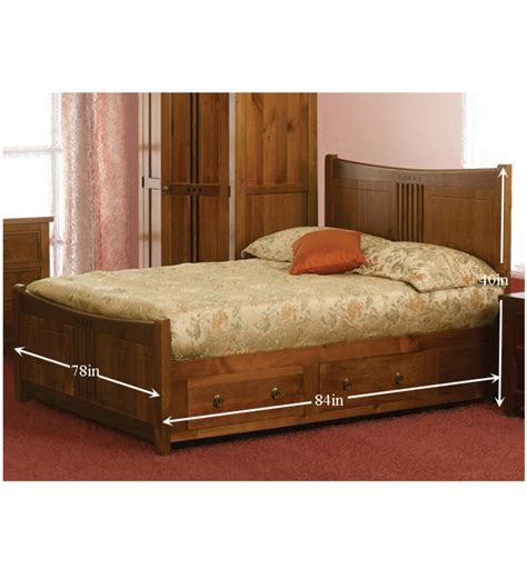olida king size bed with storage by mudramark
