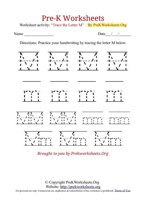 Prek Tracing Worksheet M  Werkbladen Groep 1  2  Pinterest  Worksheets, Tracing Worksheets