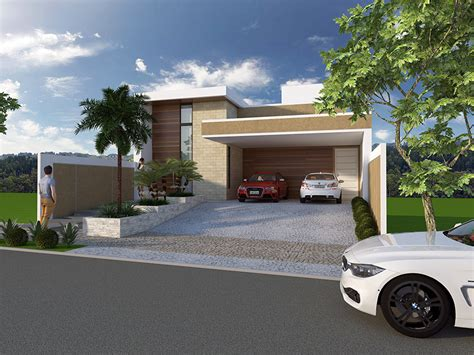 Projeto Casa Sobrado Terreno Em Declive Arquitetura