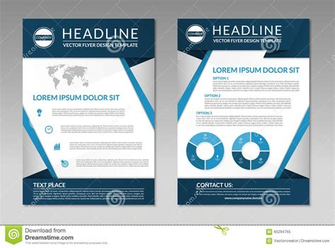 Business Brochure Flyer Design Template. A4 Size Stock