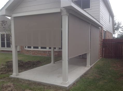 houston outdoor shades roll up or shades roll away shade
