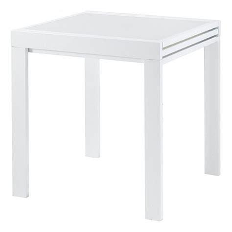 table repas carr 233 e 70 cm extensible julie blanc achat vente table a manger seule table