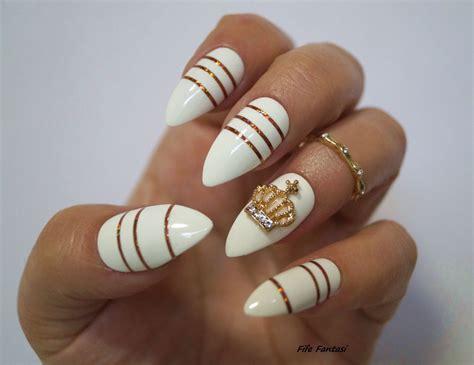 White Stiletto Nails Nail Art Fake Nails Stiletto Nails