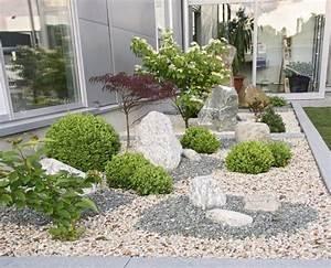 Gartengestaltung Ideen Vorgarten : die besten 25 gartengestaltung mit kies ideen auf pinterest kies steine kiesgarten und ~ Markanthonyermac.com Haus und Dekorationen