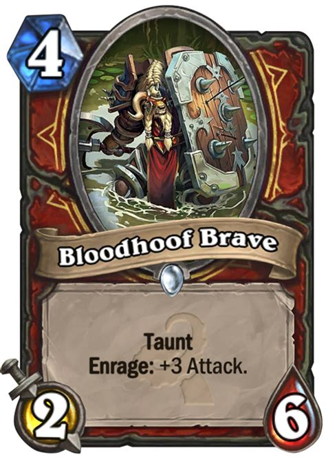 bloodhoof brave hearthstone card
