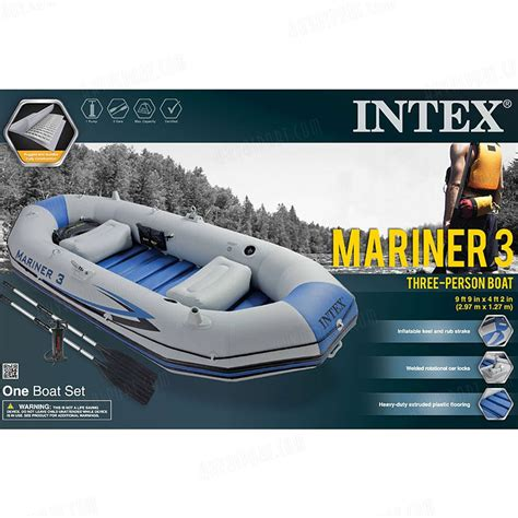 Intex Mariner Inflatable Boat by Intex Mariner 3 Inflatable Boat Akvasport