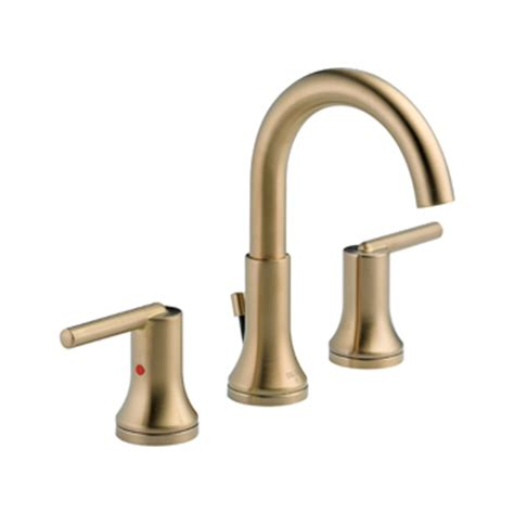 delta 3559 czmpu dst trinsic 8 quot widespread 2 handle high arc bathroom faucet chagne bronze