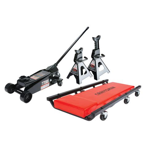 craftsman 3 ton floor with stands and creeper