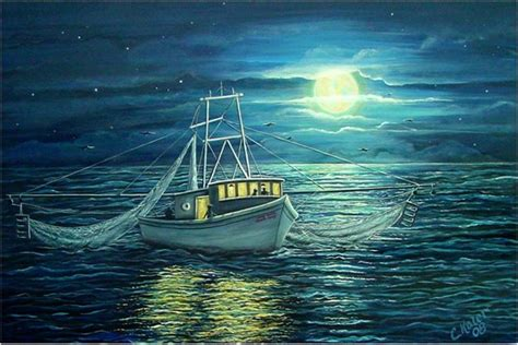 Shrimp Boat Night by Illusion Of Space 2d Design Pinterest