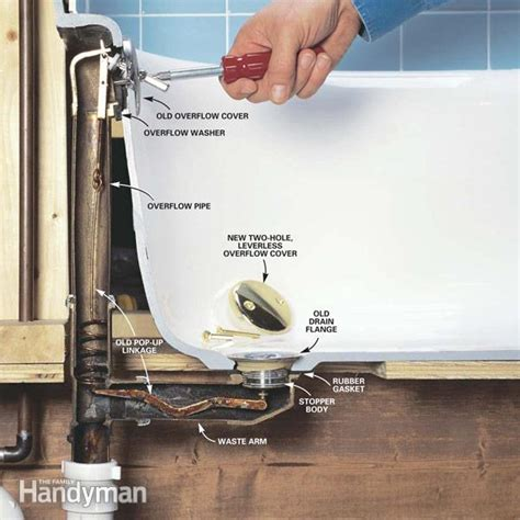 bathtub drain stopper stuck in pipe how to convert bathtub drain lever to a lift and turn