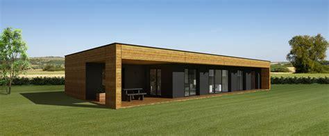 maison moderne toit plat en bois