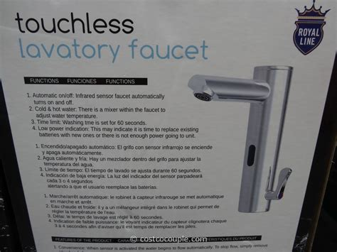 royal line touchless lavatory faucet