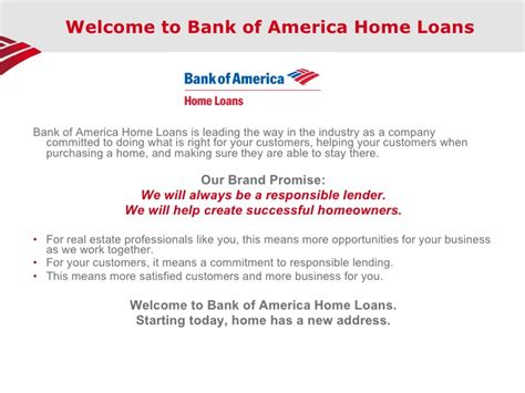 bank of america home welcome to bank of america home loans