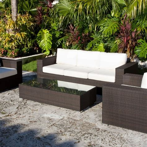source outdoor king collection all weather wicker outdoor conversation set modern patio