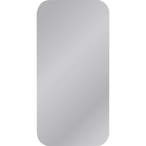miroir non lumineux d 233 coup 233 carr 233 avec coins arrondis l 40 x l 80 cm poli leroy merlin