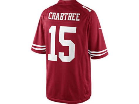 San Francisco 49ers Nike Red Michael Crabtree Nike Nfl Men
