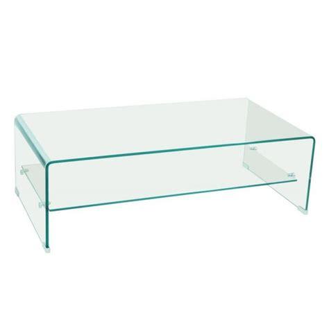 tables basses tables et chaises table basse design side en verre tremp 233 12mm transparent