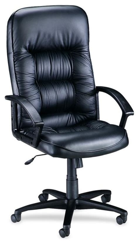 lorell tufted leather executive high back chair leather