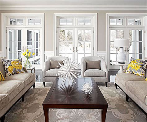grey and taupe living room ideas neutral dove grey light taupe living room with yellow