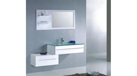 ensemble meuble de salle de bain simple vasque en verre tremp 233
