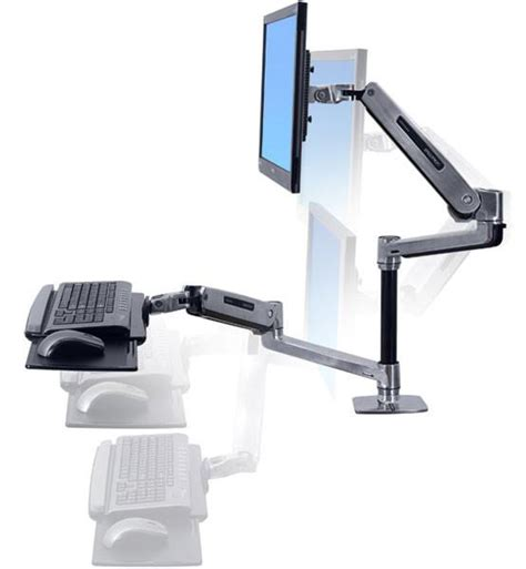 ergotron workfit lx sit stand desk mount system ergoport