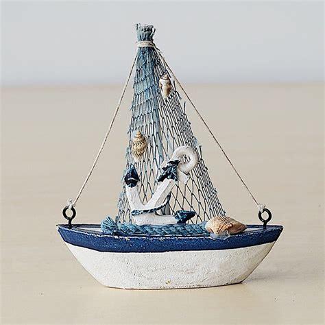 Sailing Boat Retro by Retro Wooden Mediterranean Style Mini Sailing Boat Model