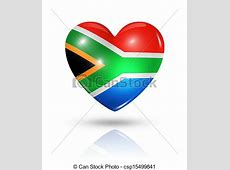 Love south africa, heart flag icon Love south africa