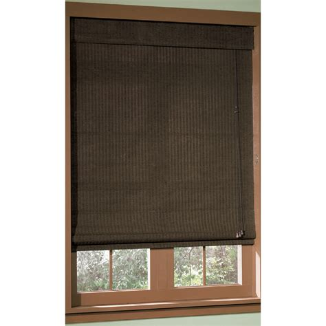 shop style selections 72 in l espresso light filtering shade at lowes