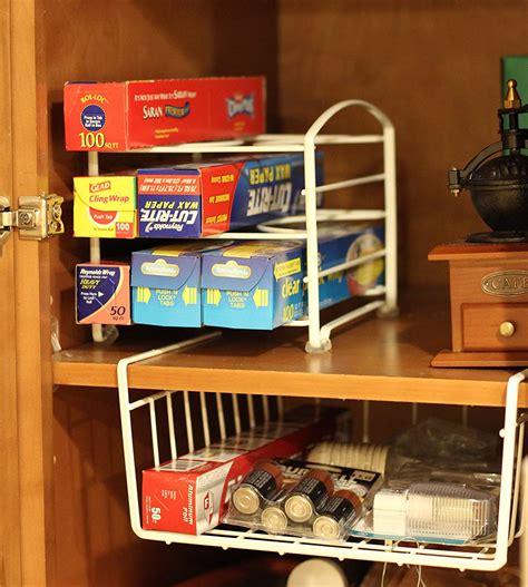 New Decobros Kitchen Wrap Organizer Rack White  Ebay