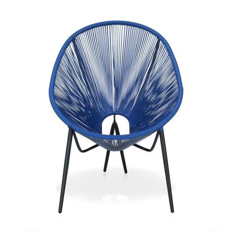 alinea 90 fauteuil de jardin r 233 tro en fils scoubidou bleu turquoise kadom fauteuils de