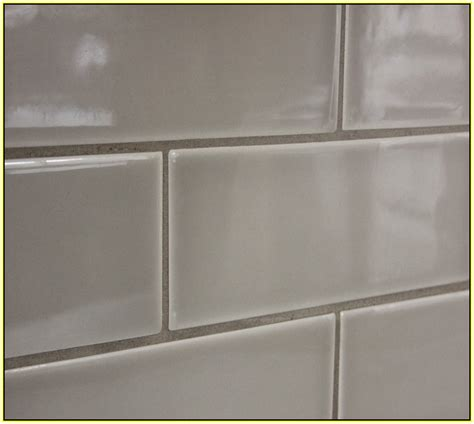 light grey ceramic subway tile