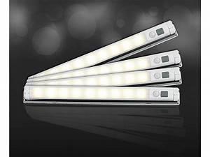 Bilder Lampen Mit Batterie : lunartec led lichtleiste mit bewegungsmelder warmwei 4er set ~ Markanthonyermac.com Haus und Dekorationen