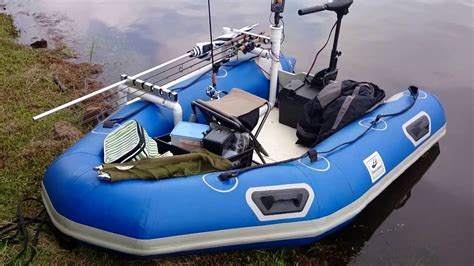 Used Inflatable Boats by Inflatable Boat Used For Bass Fishing Youtube