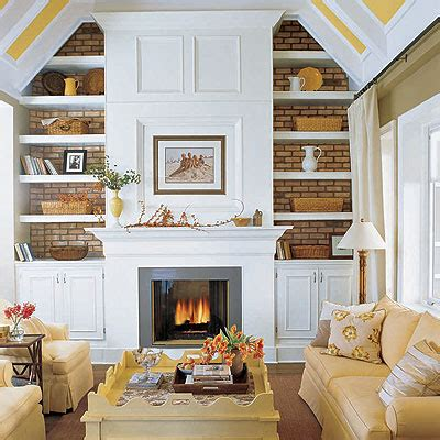 fireplace built ins cottage living room