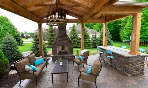 Rustic Sofas For Sale by Backyard Patio Amp Pavilion Rustic Patio Cleveland