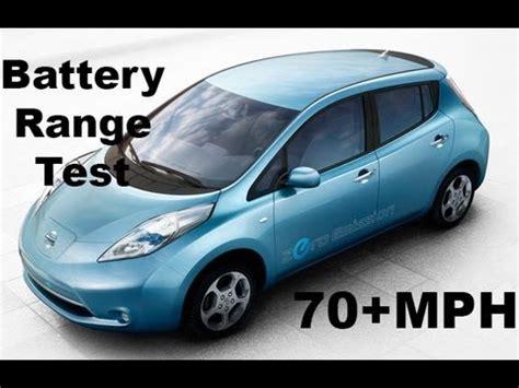 nissan leaf electric car review 70 mph range test no cuts