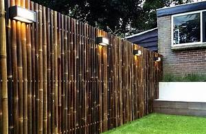 Sichtschutzzaun Bambus Holz : 34 ideen f r sichtschutz im garten mit bambus ~ Markanthonyermac.com Haus und Dekorationen