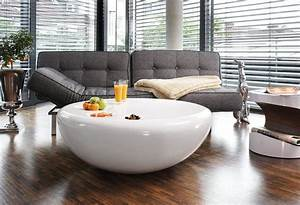 Couchtisch Weiss Hochglanz Oval : salesfever couchtisch wei hochglanz rund strice otto ~ Markanthonyermac.com Haus und Dekorationen