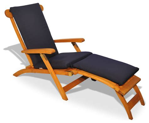 teak steamer chair chaise lounge with sunbrella cushion traditional outdoor chaise lounges