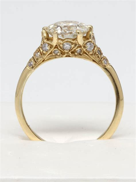Edwardian Style Gold And Diamond Engagement Ring At 1stdibs. Manicure Engagement Rings. Peridot Side Stone Engagement Rings. Coloured Diamond Rings. Mehendi Rings. Tops Rings. Goal Rings. Adamant Wedding Rings. Black Band Engagement Rings