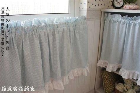 country polka dot blue cafe kitchen curtain 002 ebay