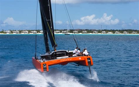 Gunboat Foiling Catamaran by Watch The World S First Foiling Cruiser Take Flight At 30