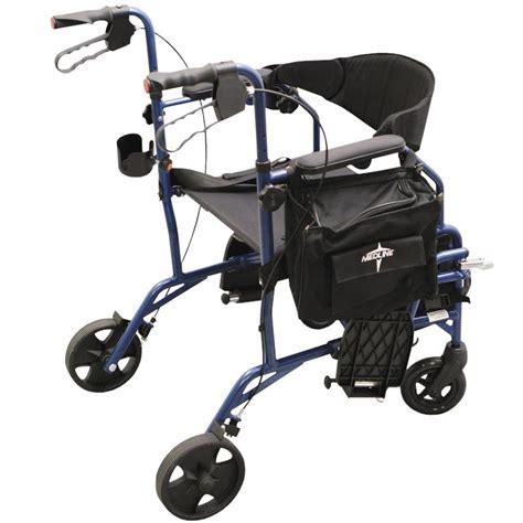 medline excel translator combination rollator and transport chair