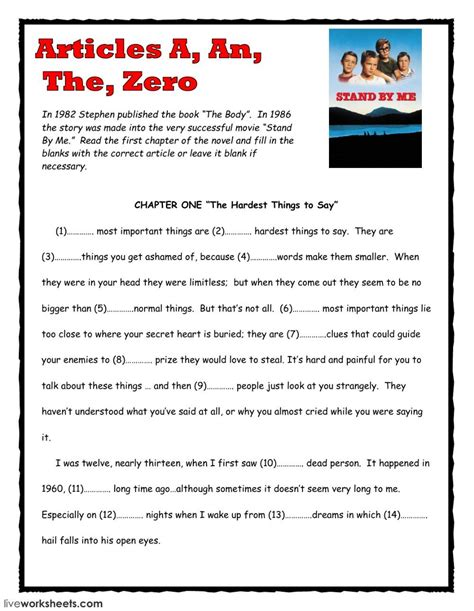 Articles A, An, The, Zero Interactive And Downloadable Worksheet You Can Do The Exercises