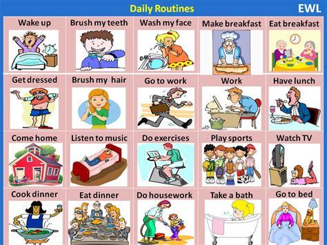 Daily Routines  Visual Vocabulary  Vocabulary Home