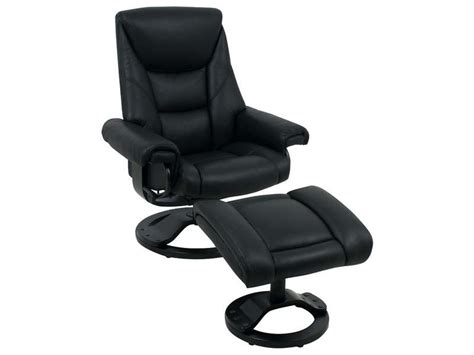 fauteuil relax cuir conforama et repose pied en coloris noir mon fauteuil relax